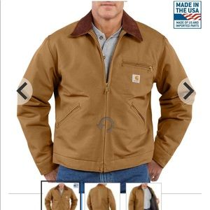 Carhartt Duck Detroit blanket lined coat
